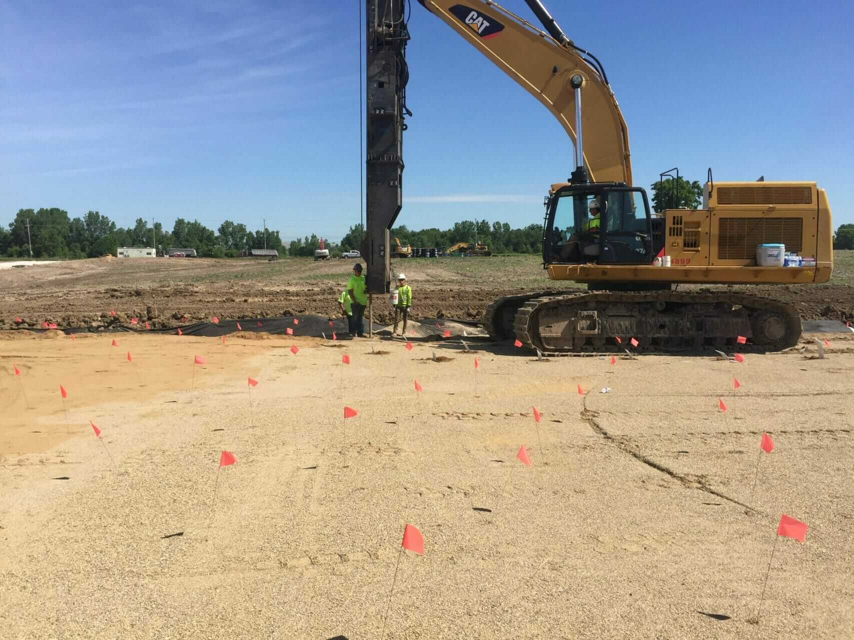 Wick Drain installation for a casino expansion construction project